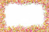 stock photo of jimmy  - Colorful candy sprinkles isolated on white background - JPG