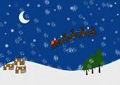 Snowy Landsacpe With Santa