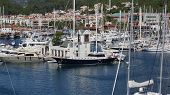 Sailing vessels docked in port, Marmaris, Turkey, october 19, 2013
