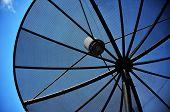 Sattelite Antenna And Bluesky Background