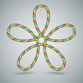Multicolor Celtic Laced Rope