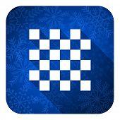 chess flat icon, christmas button