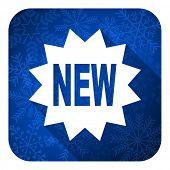 new flat icon, christmas button