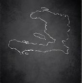 pic of greater antilles  - Haiti map blackboard chalkboard raster template map - JPG