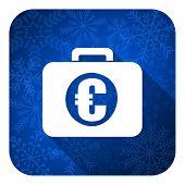 financial flat icon, christmas button