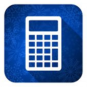 calculator flat icon, christmas button