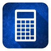 calculator flat icon, christmas button