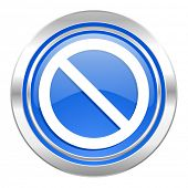 access denied icon, blue button