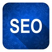 seo flat icon, christmas button