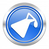 chemistry icon, blue button