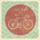 Bicycle Vintage Poster. Vector