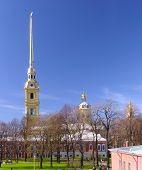 Peter And Paul Cathedral At Sunny Weather In Saint-petersburg, Russia poster