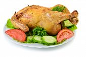 Roast Chicken on dish