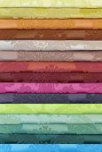 Colorful Folded Curtain Fabric Swatch