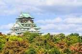Osaka Castle  In Kansai Japan.