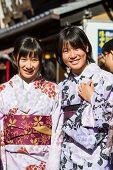 Japanese Kimono Women.