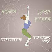 Yoga. Awkward Pose.