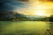 fantastic sunrise on the beach