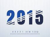Happy New Year celebration concept with creative text 2015 on stylish background.