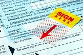 Do not forget to sign the income tax return