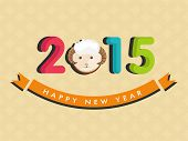 Colorful stylish text and sheep for year of the sheep 2015 celebrations, can be used as poster, banner or flyer.