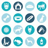 picture of puppy dog face  - Dog icons white set with ball puppy shampoo bowl isolated vector illustration - JPG