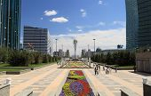 Central Square Of Of Kazakhstan. Astana City.