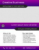 Business multipurpose flyer template - purple and grey