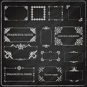 Ornamental design corners set
