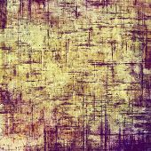 Old grunge textured background. With different color patterns: purple (violet); brown; yellow