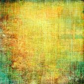 Antique vintage textured background. With different color patterns: yellow; green; brown