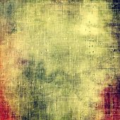 Old texture with delicate abstract pattern as grunge background. With different color patterns: gray; green; purple (violet); orange; yellow