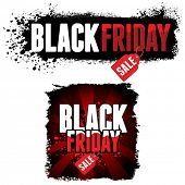 Black Friday Sale advertisement. Vector Illustration for your business design.