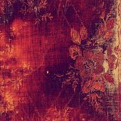 Old texture with delicate abstract pattern as grunge background. With different color patterns: purple (violet); orange; red; yellow