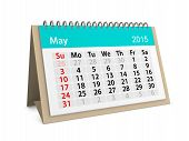 Monthly Calendar For Year 2015. May