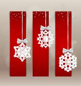 Holiday Gift cards with christmas decorations. Vector illustration.