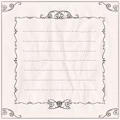 Frame on a paper with place for text. Eps10