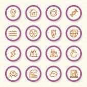 image of ecology  - Ecology web icons set - JPG