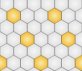 image of hexagon pattern  - seamless pattern with gold  - JPG