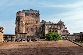 image of india gate  - Jahangir Mahal or Orchha Palace is citadel and garrison located in Orchha - JPG