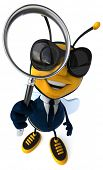picture of bumble bee  - Fun bee - JPG