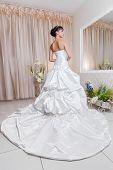 Постер, плакат: Beautiful Young Bride In Her Wedding Dress