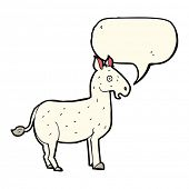 stock photo of mule  - cartoon mule with speech bubble - JPG