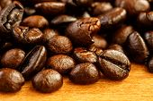 stock photo of coffee crop  - coffee beans background - JPG