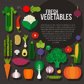 picture of gourmet food  - Fresh vegetables vector concept - JPG