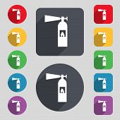pic of fire extinguishers  - fire extinguisher icon sign - JPG