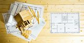 stock photo of interior sketch  - Building house - JPG
