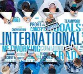 pic of globalization  - International World Global Network Globalization International Concept - JPG