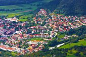 Small town in the mountains in Slovenia