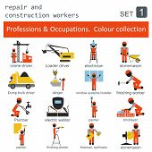 image of designated driver  - Professions and occupations coloured icon set - JPG